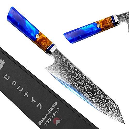 "Jikko New Premium Japanese Kitchen Knife 13"" Inch with Damascus"