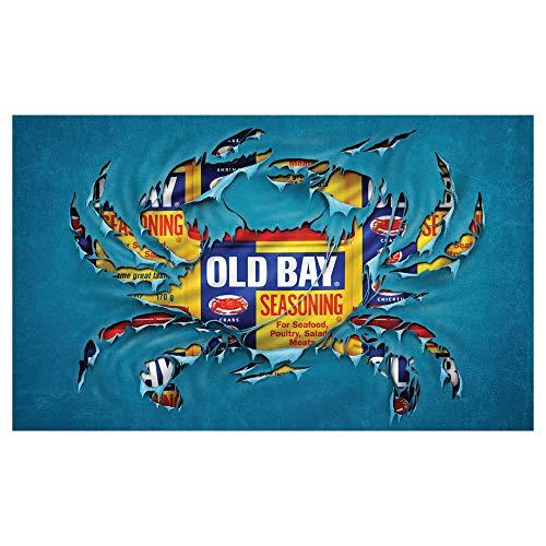 Old Bay Seafood Seasoning Licensed Crab Breakthrough Door Mat