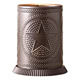 Irvin's Country Tinware Candle Warmer with Regular Star in Kettle Black