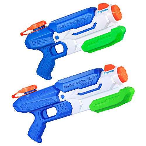 Toyvian 2 Pack Super Squirt Water Gun, Water Blaster 35.5oz and 29oz Swimming Pool Beach Toys