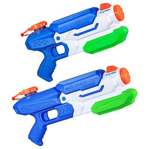 Toyvian Pistole ad Acqua per Bambini, Pistola ad Acqua Pistola ad Acqua Grandi Giocattoli Estivi per Bambini, 2 Pezzi