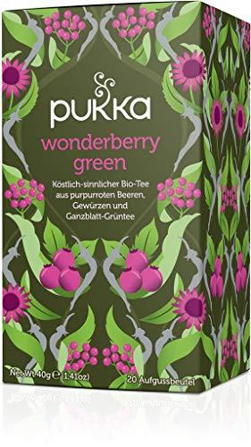PUKKA Bio Wonderberry Green Tee, 1er Pack (20 x 2,0g Teebeutel) - BIO