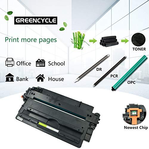 GREENCYCLE 14A CF214A Black Toner Cartridge Replacement Compatible for Laserjet Enterprise 700 M712dn 700 M712xh 700 MFP M725f Printer Photo #7