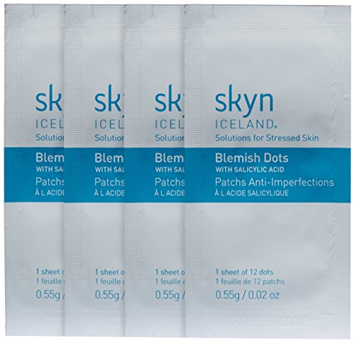 skyn ICELAND Blemish Dots: Clear Blemishes, Reduce Inflammation & Minimize Redness, 4 Sheets of 12 Dots (48 Dots)