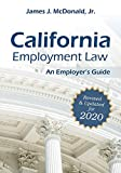 Image of California Employment Law: An Employer's Guide: Revised & Updated for 2020 (2020)