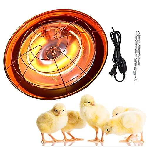 WOERD Lámpara De Calefacción Infrarroja, Lámpara De Calor para Mascotas, Lámparas De Calor Infrarrojas De Animales Conejo Pollitos con Termostato, Ajuste La Temperatura 200-400