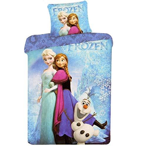 La Reine des Neiges Housse de Couette Fille avec Taie d'oreiller - 200 x 140 cm - Parrure Frozen