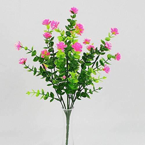 1 Bündel Künstlicher Plastik Blumenstrauß für Haupt Dekorations Pflanzenwand Garten Deko - 6