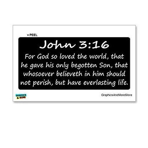 Graphics and More John 3-16 - Christian - Bible - Window Bumper Locker Sticker