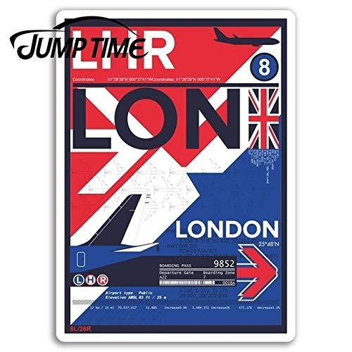 FAFPAY Sticker de Carro Jumping Time to London Airport Pegatinas de Vinilo Inglaterra Pegatina portátil Equipaje baúl Ventana calcomanía Accesorios de CocheEstilo A