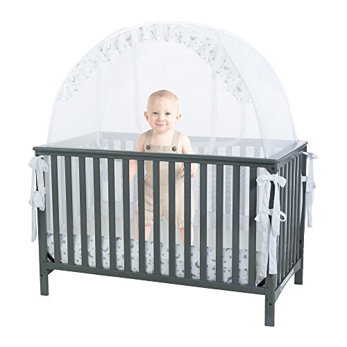 Baby Crib Safety Pop up Tent: Premium Baby Bed Canopy Netting Cover - See Through Mesh Top Nursery...