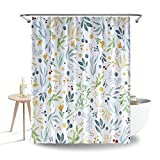 Blue White Shower Curtain Duschvorhang (Plant)