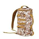 Bolsa de pesca, plegable de gran capacidad, mochila para aparejos de pesca, bolsa de transporte de viaje de almacenamiento, 23 l, color amarillo camuflado