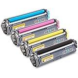 4 Toner compatible para Brother TN242 TN246 Negro Cyan Magenta Amarillo para Brother DCP-9015 CDW, 9017 CDW, 9022 CDW / HL-3142 CW, 3152 CDW, 3172 CDW / MFC-9142 CDN, 9332 CDW, 9342 CDW