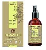 Organic Farm Hidrosol Hidratante Agua floral Orgánica de Hamamelis Botella de vidrio Spray 250 ml, Cuidados y Reposteria