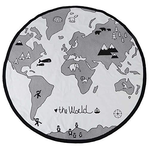 Wereldkaart Spel Pad, Kinderkamer Avontuur Educatief Leren Baby Rond Tapijt Kruipen spelen Mat Tapijt
