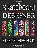 Skateboard Designer Sketchbook: Design your Deck - Blank...