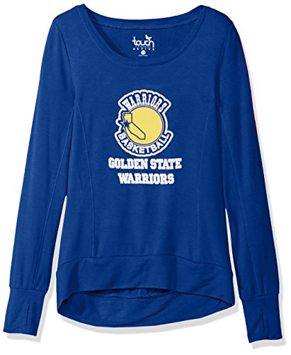 Touch by Alyssa Milano NBA Golden State Warriors Lateral Sweatshirt, X-Large, Royal