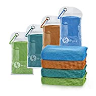 """U-pick 4 Packs Cooling Towel (40""""x 12""""), Ice Towel,Microfiber Towel,Soft Breathable Chilly Towel for Yoga,Sport,Gym,Workout,Camping,Fitness,Running,Workout&More Activities"""
