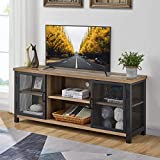 FATORRI Rustic TV Stand for TVs up to 60 Inch, Farmhouse Entertainment Center with Storage Cabinet, Industrial Wood Media TV Console for Living Room (Rustic Oak, 55 Inch)