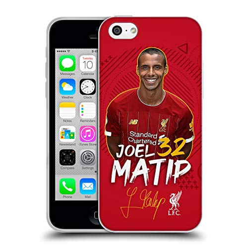 Head Case Designs Oficial Liverpool Football Club Joel Matip 2019/20 Primer Equipo Grupo 1 Carcasa de Gel de Silicona Compatible con Apple iPhone 5c
