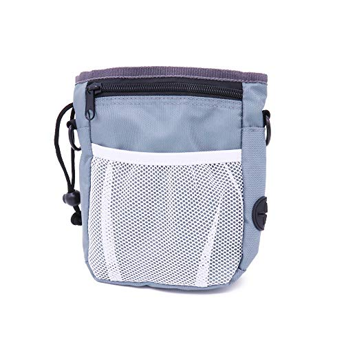 OPENEW Treat Pouch, Upgraded Dog Treat Pouch with Metal Clip, Waist Belt and Shoulder Strap, Easily Carry Snacks, Pet Toys, Built-in Poop Bag Dispenser