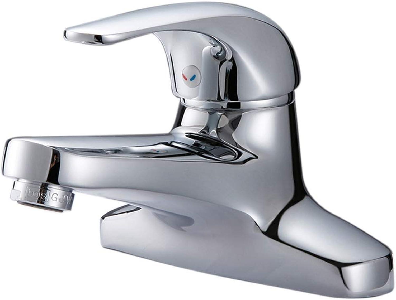 Yunteng-Tap Mixer Kitchen Sink Taps丨Monobloc Kitchen Taps丨Single Handle Double Hole Bathroom Faucet Swivel Spout Polish Chrome