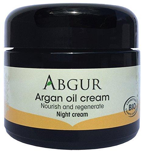 Arganöl Nachtcreme - Gesichtscreme dermatologisch getestet - Für alle Hauttypen - Anti Aging Gesichtspflege - 50 ml