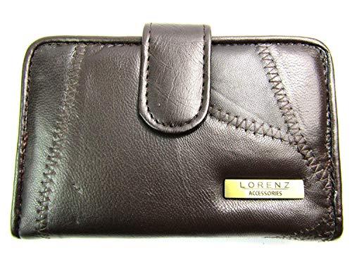 Emporium Leather Femmes Portefeuille Cuir Souple Conçu par Lorenz - Marron, 13.5cm 9cm