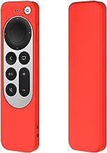 Remote Silicone Case for Apple TV 4K, Apple TV Siri Remote 2nd Gen Non-Slip Durable Remote Control Protective Cover (Red)