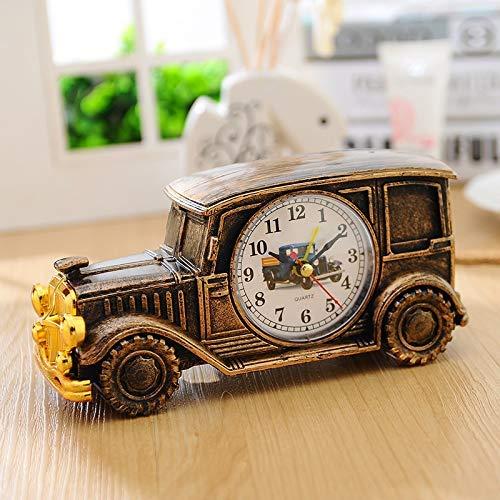 Kids Toy Car Small Leuke wekker Retro Pastoraal en Classic Car Model Small Cute Alarm Clock