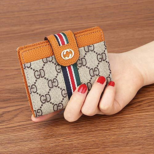 Weier. Ben Nieuwe bloem kleine portemonnee dames gesp multifunctionele retro hand nemen portemonnee korte kaart pakket