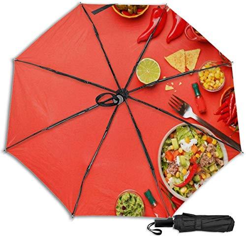 Paraguas de viaje resistente al viento con protección UV (turquesa dorado brillante textura)