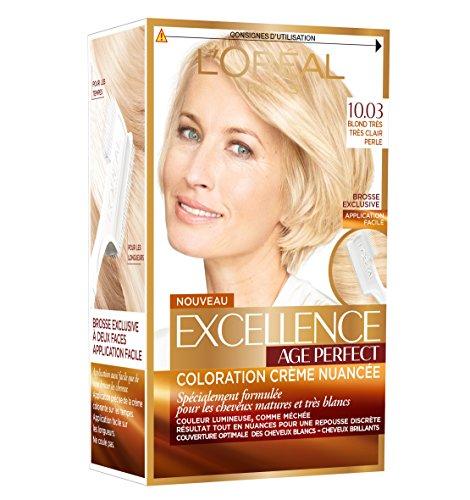 L'Oréal Paris - Excellence Age Perfect - Coloration Permanente Cheveux Matures & Très Blancs - Nuance 10,03 Blond Très Très Clair Perle