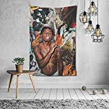 Silver-S Lil Wayne Hip Hop Rapper Poster Tapestries Art Wall Hanging Throw Tapestry 60x40 Inches for Bedroom Living Room Dorm Room