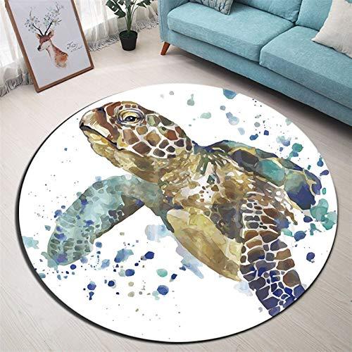 YSJJQSC Teppich Rundfläche Teppich und Teppich für Zuhause Wohnzimmer Memory Foam Schlafzimmer Kissen Badezimmer Bodentürmatte Startseite Einrichtung (Color : YDD049, Specification : Diameter 100CM)