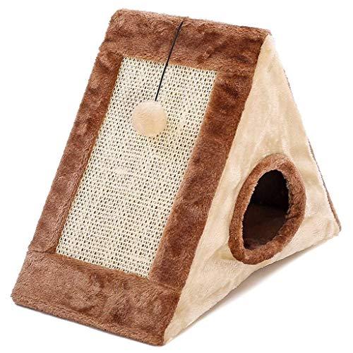 BANANAJOY Haustiere Betten, Katze spielt Tunnel-Spielzeug mit Kugel Katzen Scratcher Boards Natürliche Gefangen...