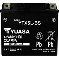 台湾製 バイクバッテリー 国内液入 初期補充電済 YUASA 純正互換品 (YTX5L-BS / GTX5L-BS / FTX5L-BS / KTX5L-BS 互換)