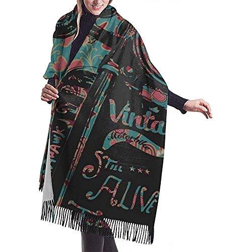 LisaArticles Damessjaal, het kunstdesign van het behang voor volwassenen met kwast voor motorfiets, skivissen