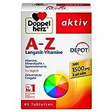 Doppelherz A-Z DEPOT Langzeit-Vitamine – Multivitamin-Nahrungsergänzungsmittel mit vielen wichtigen Vitaminen
