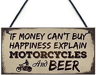 Jerome George New Beer Motorcycle Enthusiast Motorbike Man Cave Sign Garage Vintage Dad Grandad Gift for Him 12 x 8