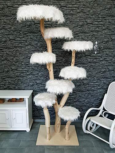 DIWORO Naturkratzbaum 1275 Kratzbaum Natur Holz Design