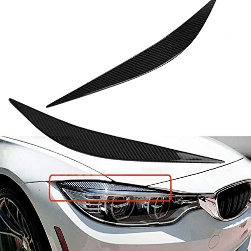 FeiNianJSh SY-CDMMS, For Tapa BMW M3 F80 F82 F83 M4 2014-2017 Real de Fibra de Carbono Un par de Coches Frente Linterna del párpado del Ojo Ajuste de la Cubierta Cejas