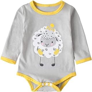 Bambino da 6 a 24 Mesi Jimmackey Neonato Maniche Lunghe Felpe Pagliaccetto Cane Stampa con Cappuccio Tuta Body Vestiti