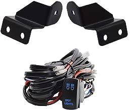 Dasen Pro-Fit Cage LED Work/Cube Lights Mounting Brackets w/Spot Light Rocker Switch & Wiring Kit For Polaris Ranger All Models