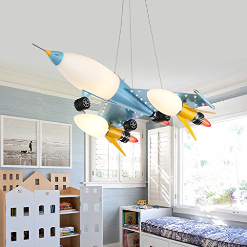 Lily's-uk Love Lustre à LED pour les yeux de l'aviation Creative Cartoon Art Shop Éclairage Boy Boy Room Bedroom Lamp