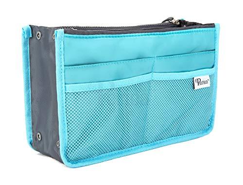 Periea Organizador de Bolsos Bosillo para Cartera 12 Compartimentos - 20 Colores – Chelsy - Pequeña, Medio o Grande (Azul Brillante, Pequeña)