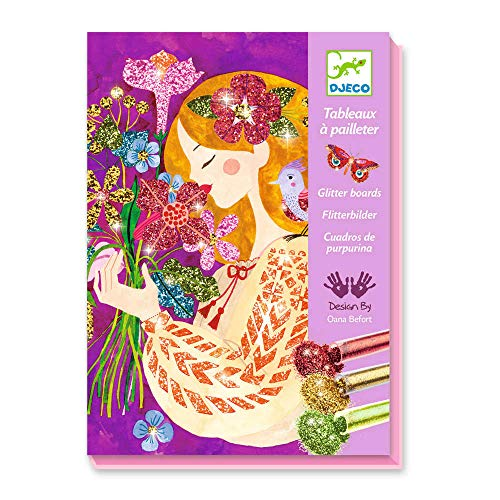 Djeco - Kreativ Set Glitzerbilder The Scent of Flowers inkl. Glitter