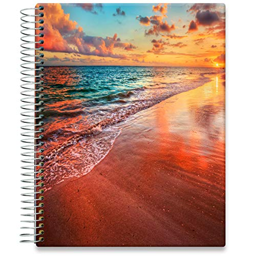 Tools4Wisdom Daily Planner 2021-2022 - Inclusive June 2021 - 8.5 x 11 Hardcover - Full Color Academic Planner Calendar - Vertical Weekly Planner Layout - Q2S15 - Sandy Sunset