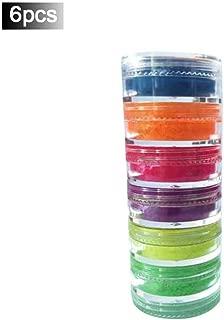 settlede Neon Colorful Eyeshadow Palette Glitter Matte,Glow Blacklight Luminous Eyeshadow Pallet,Lasting Shimmer Eyeshadow Powder 6 Colors Neon Pigment Eyeshadow Powder Nail Powder supportable